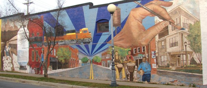 mural art outdoor walking small business